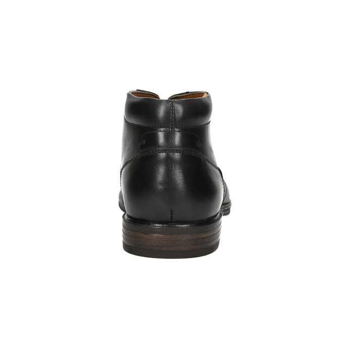 Men's leather ankle boots bata, black , 824-6913 - 17
