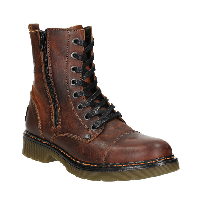 Ladies' ankle boots with zip bata, brown , 596-3681 - 13