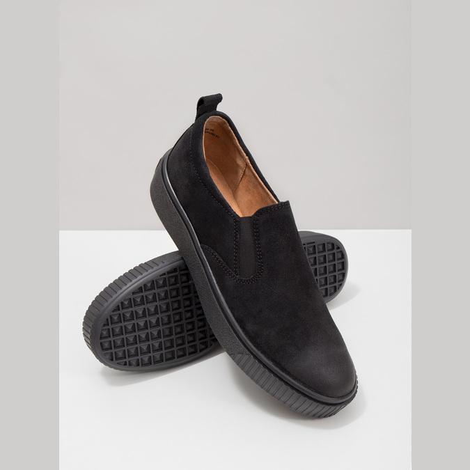 Ladies' Slip-on shoes bata, black , 516-6613 - 18