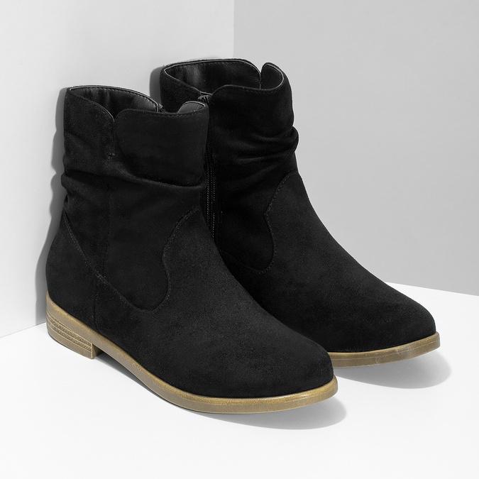 Ladies' ankle boots bata, black , 599-6614 - 26
