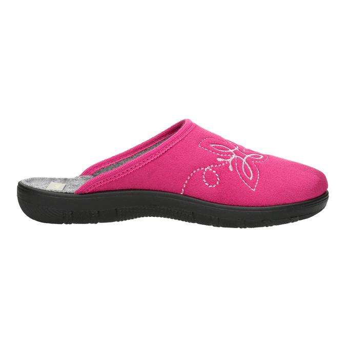 Ladies' Pink Slippers bata, pink , 579-5621 - 15
