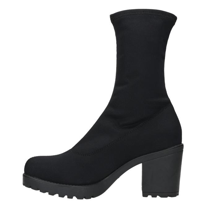 High Boots with Sturdy Heel vagabond, black , 729-6041 - 26