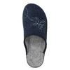 Ladies' Blue Slippers bata, blue , 579-9621 - 17