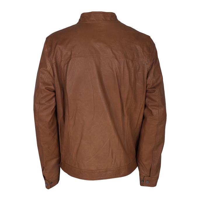 Men's Leather Jacket bata, brown , 974-0154 - 26
