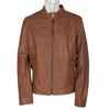 Men's Leather Jacket bata, brown , 974-0154 - 13