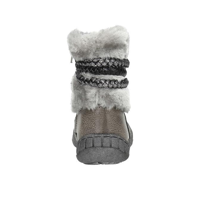 Children's Winter Boots with Fleece bubblegummer, gray , 191-2620 - 17