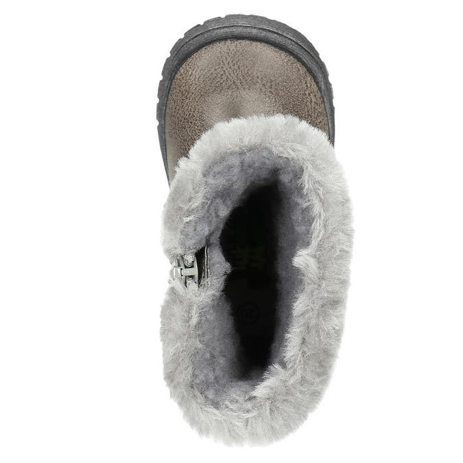 Children's Winter Boots with Fleece bubblegummer, gray , 191-2620 - 19