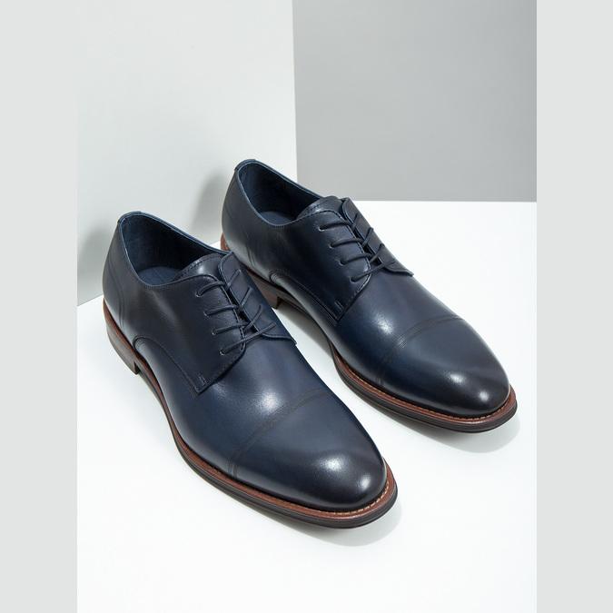 Casual leather shoes blue bata, blue , 826-9681 - 18