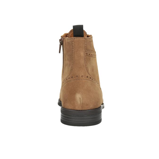 Men's Leather Ankle Boots vagabond, brown , 823-3016 - 16