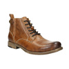 Brown Leather Ankle Boots bata, brown , 896-3684 - 13