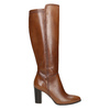 Leather High Boots with Stitching bata, brown , 794-4356 - 15