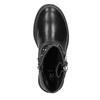 Girls' Zipper High Boots mini-b, black , 291-6396 - 15