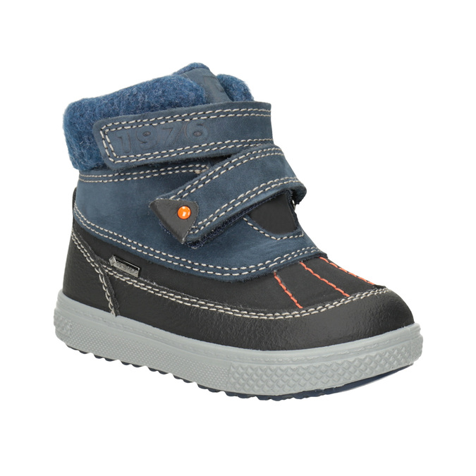 Children's Leather Winter Boots primigi, blue , 196-9006 - 13