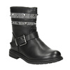 Girls' High Boots with Studs mini-b, black , 291-6398 - 13