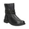 Girls' High Boots with Rhinestones mini-b, black , 291-6395 - 13