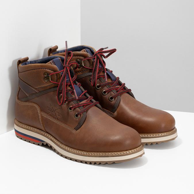 Men's Winter Ankle Boots bata, brown , 896-3677 - 26