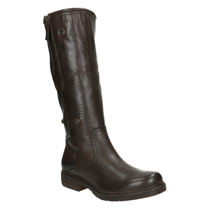 Ladies' Insulated Leather High Boots manas, brown , 593-3609 - 19