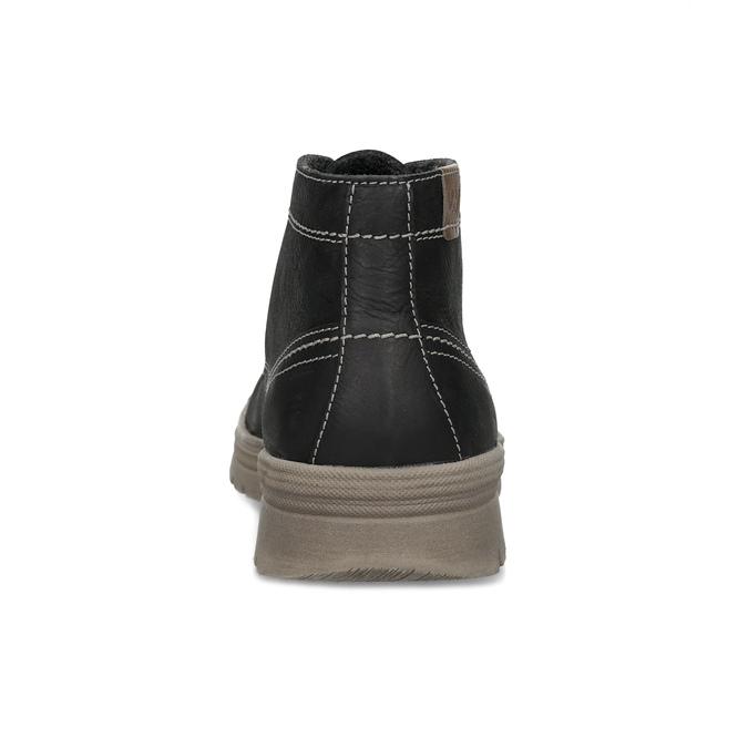 Men's leather winter boots weinbrenner, black , 896-6107 - 15