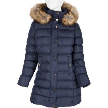 Ladies' winter jacket with fur bata, blue , 979-9134 - 13