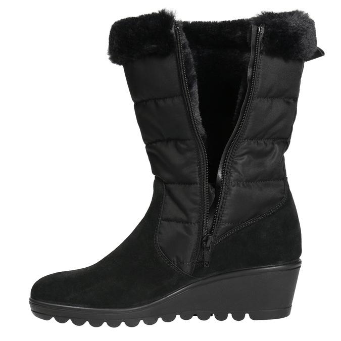 Ladies' Winter Boots comfit, black , 696-6624 - 26