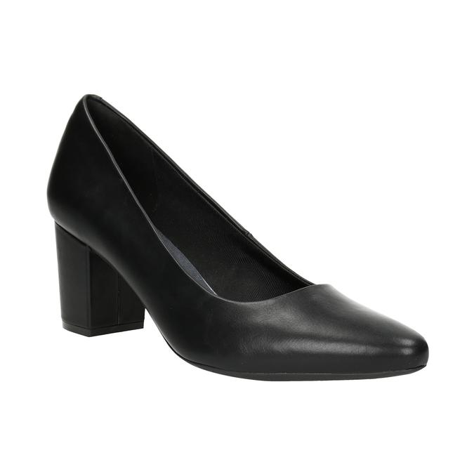 Ladies' black pumps rockport, black , 724-6048 - 13