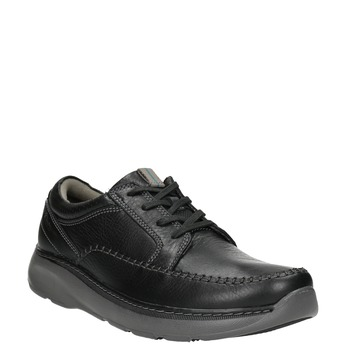 Men's Leather Lace-ups with Stitching clarks, black , 826-6024 - 13