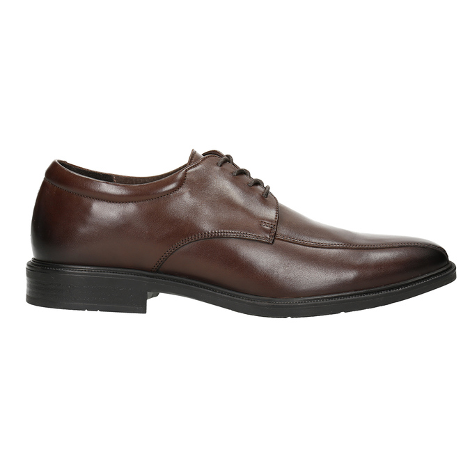 Men's Leather Shoes with Stitching climatec, brown , 824-4986 - 26