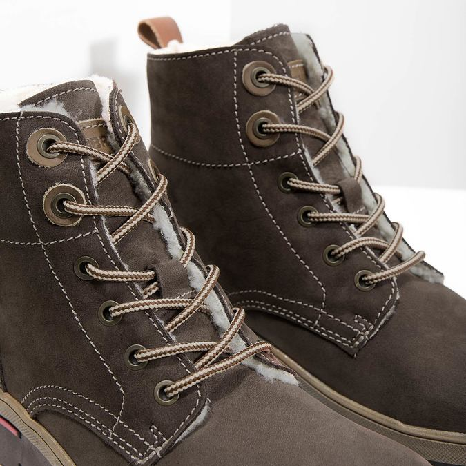 Ladies' Leather Winter Boots weinbrenner, brown , 596-4666 - 14