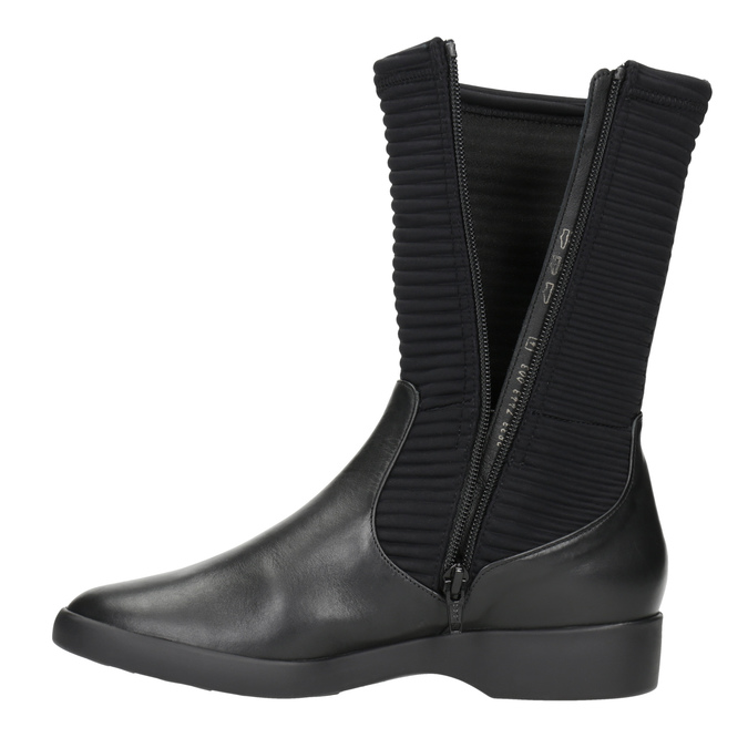 Ladies' leather high boots hogl, black , 614-6037 - 15
