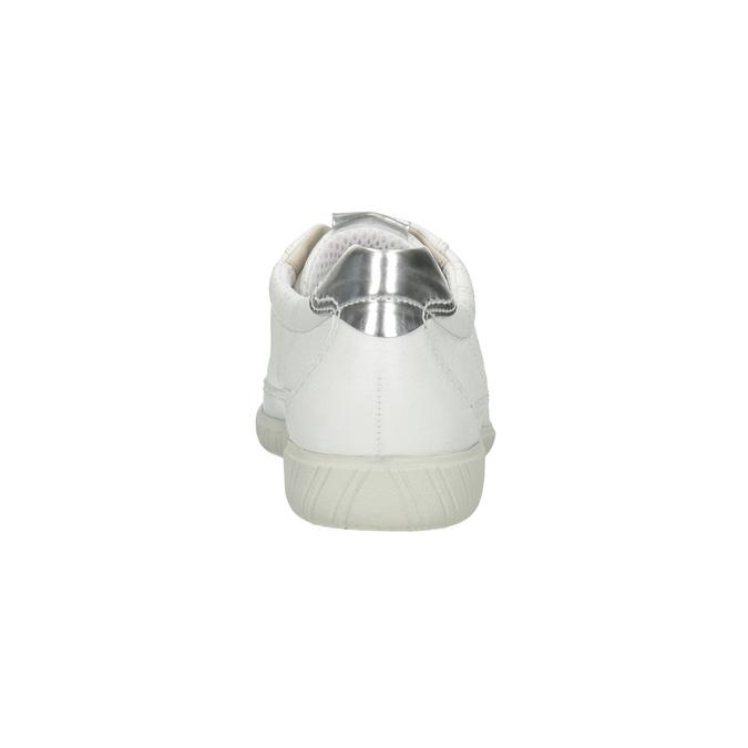 White leather sneakers gabor, white , 626-1204 - 16