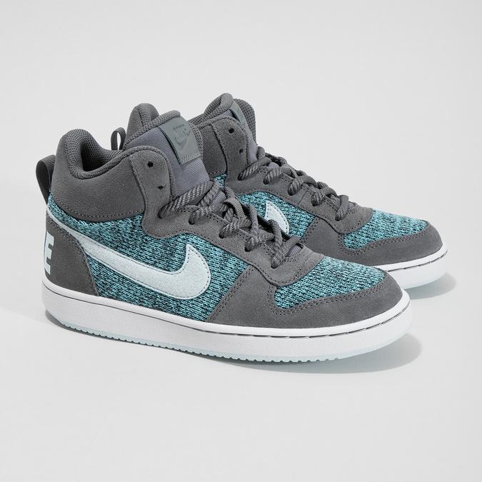 Children's High-Top Sneakers nike, gray , 401-2108 - 26