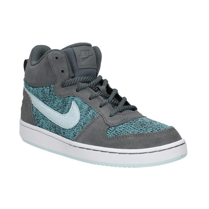 Children's High-Top Sneakers nike, gray , 401-2108 - 13