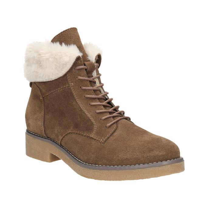 Ladies' Winter Boots with Fleece bata, brown , 593-4607 - 13