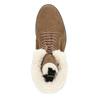 Ladies' Winter Boots with Fleece bata, brown , 593-4607 - 15