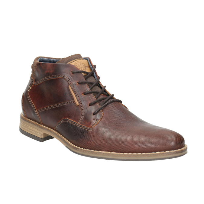 Men's leather ankle boots bata, brown , 826-3926 - 13