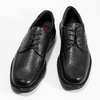 Black leather shoes fluchos, black , 824-6451 - 16