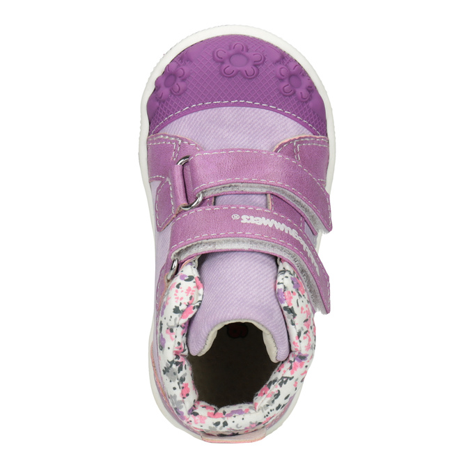 Kids' hi-top sneakers with a pattern bubblegummer, blue , 121-9618 - 15