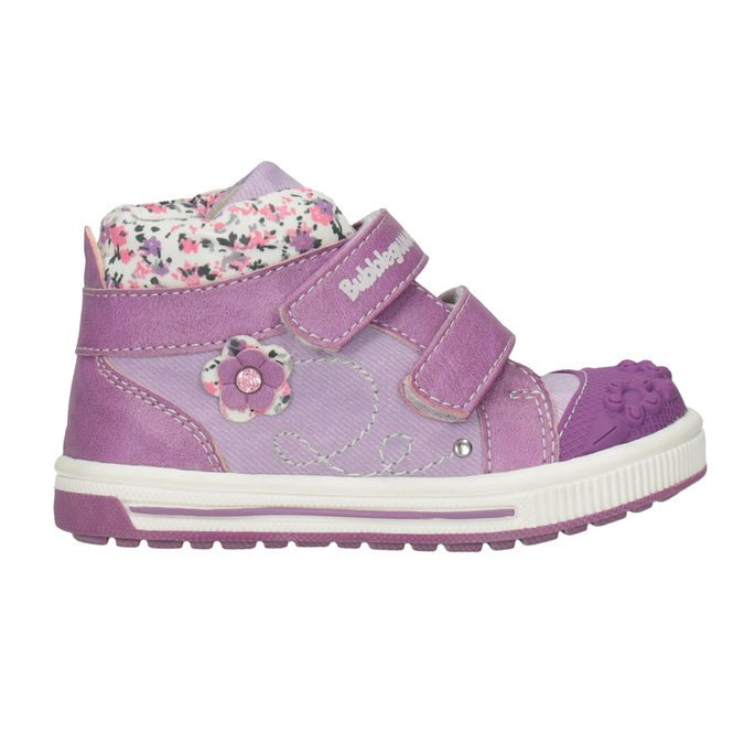 Kids' hi-top sneakers with a pattern bubblegummer, blue , 121-9618 - 26