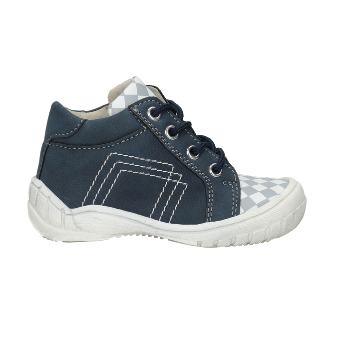 Kids' ankle boots with a pattern bubblegummer, blue , 111-9626 - 26