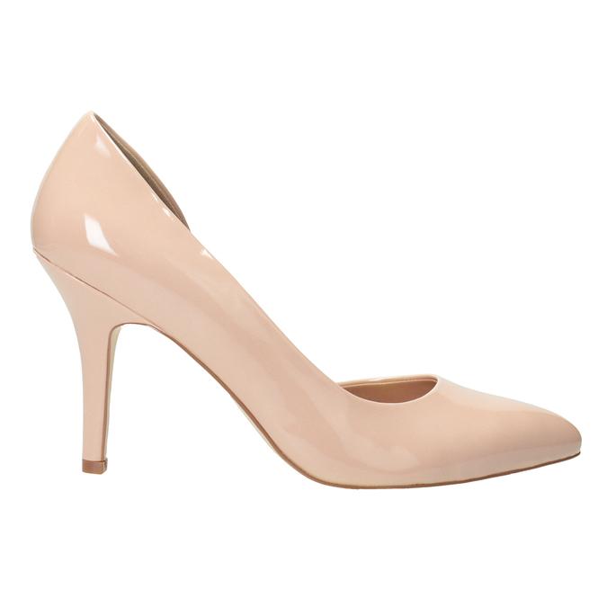 Patent pinkish cream-colored pumps insolia, beige , 721-5615 - 26