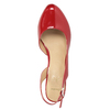 Red pumps with an open heel insolia, red , 721-5616 - 15