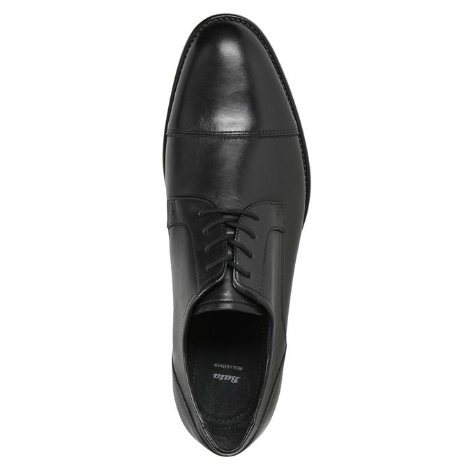 Men's Leather Derby Shoes bata, black , 824-6995 - 15