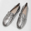 Silver moccasins with a buckle bata, silver , 511-1609 - 16