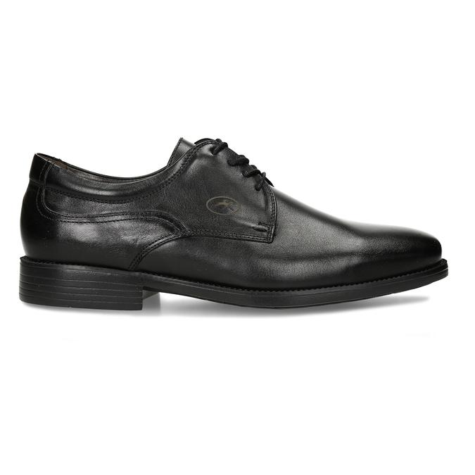 Men's Leather Derby Shoes fluchos, black , 824-6440 - 19