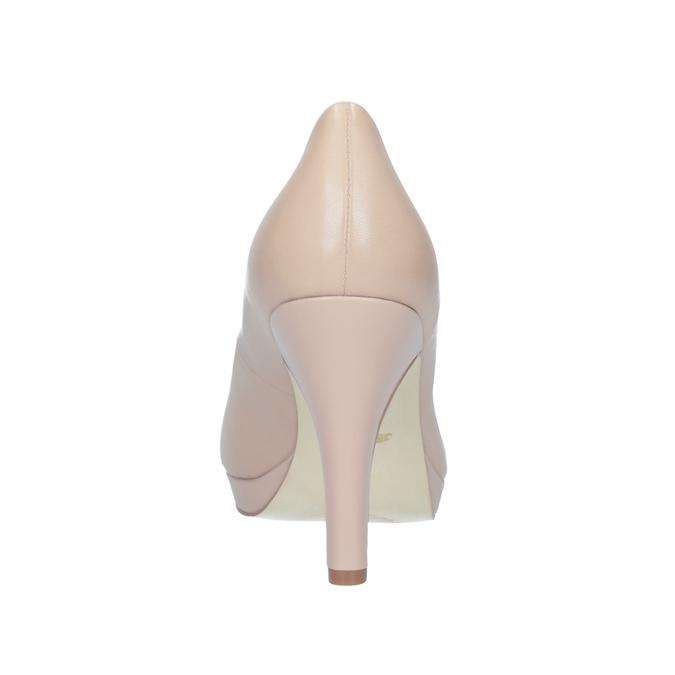 Pinkish cream-colored leather pumps insolia, beige , 724-2104 - 16