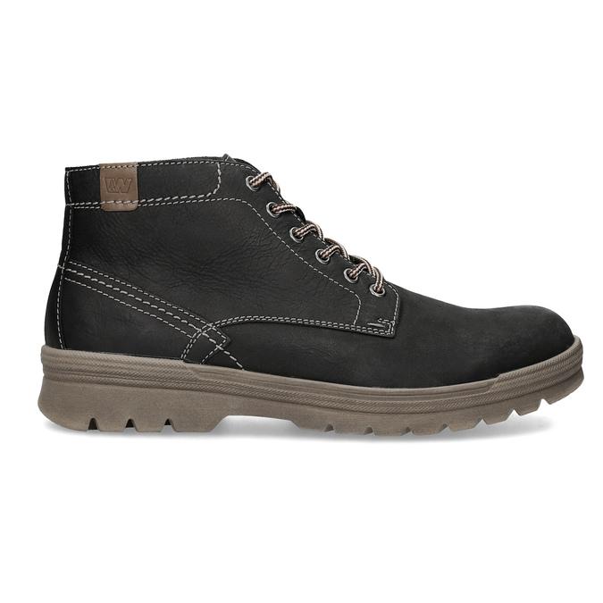 Men's leather winter boots weinbrenner, black , 896-6107 - 19